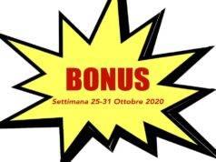 bonus 25-31 ottobre 2020