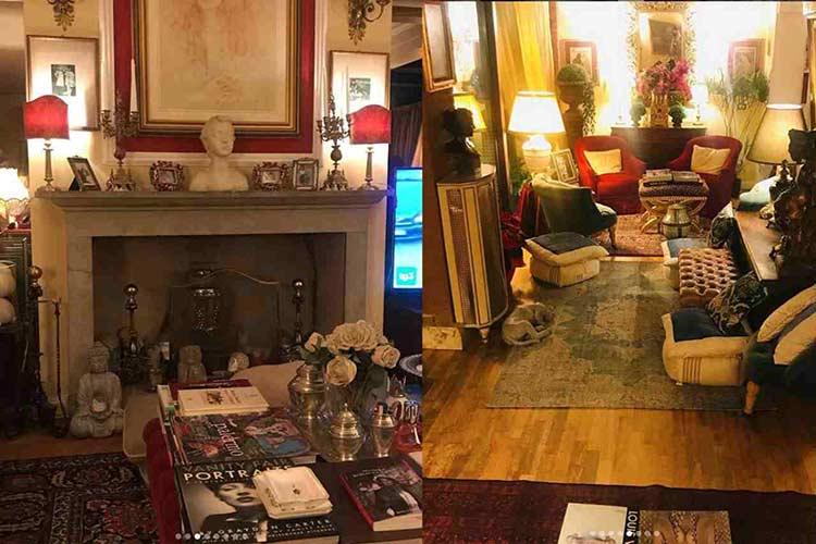 inerni della casa di Alba Parietti