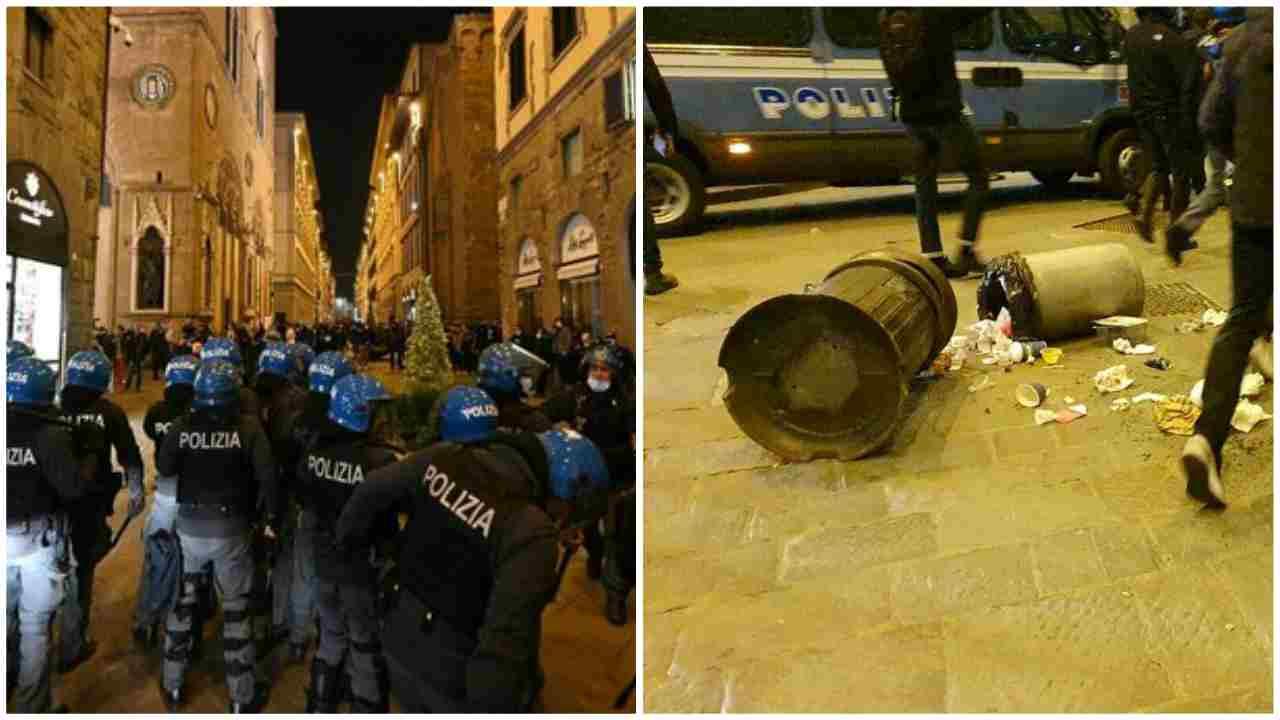 manifestazione scontri firenze