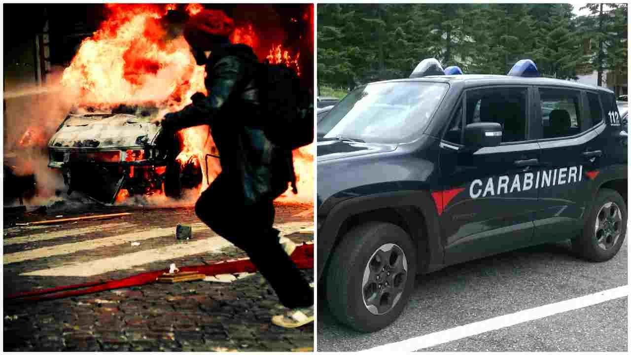 auto in fiamme asti