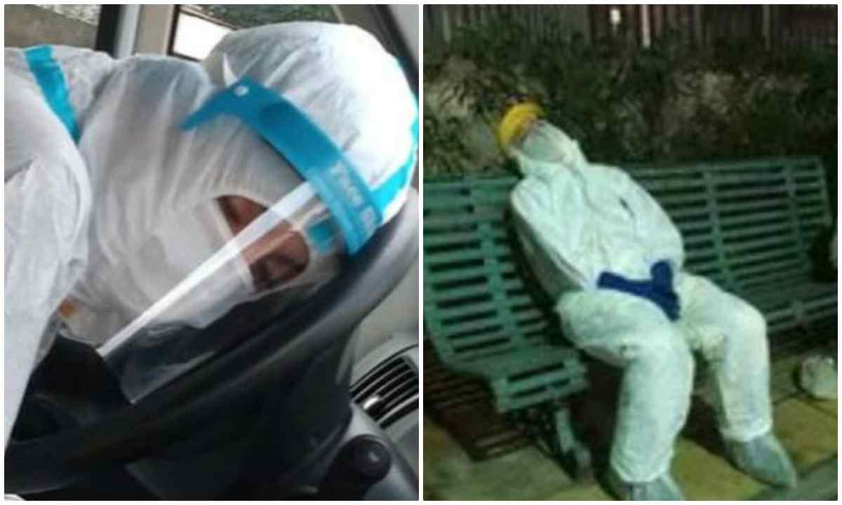 infermieri stanchi