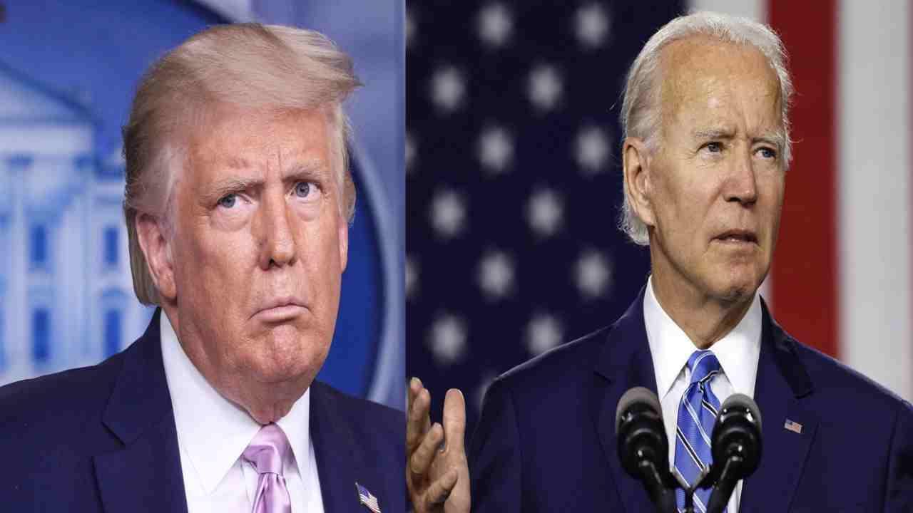 scontro a distanza Biden Trump
