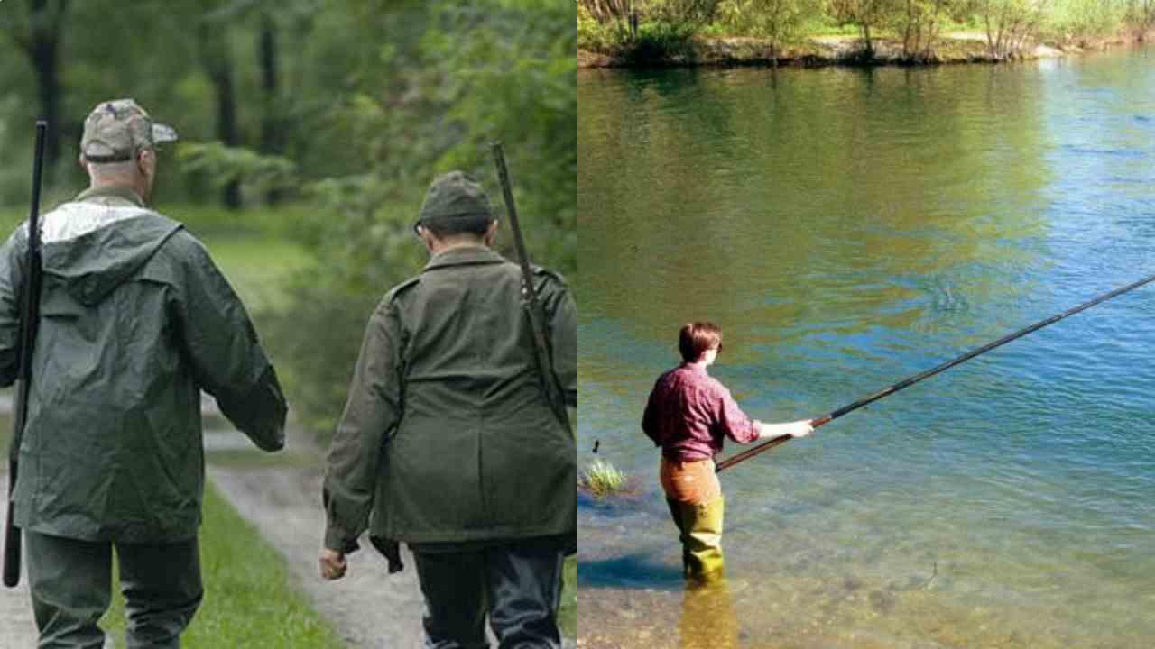 Caccia e pesca vietate nelle zone rosse