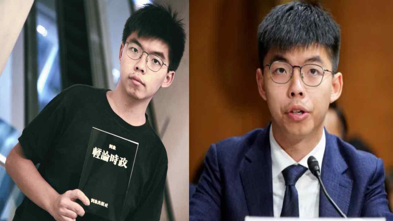 Joshua Wong attivista cinese in manette