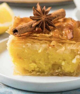 cheesecake di sfoglia ripiena di crema e mascarpone