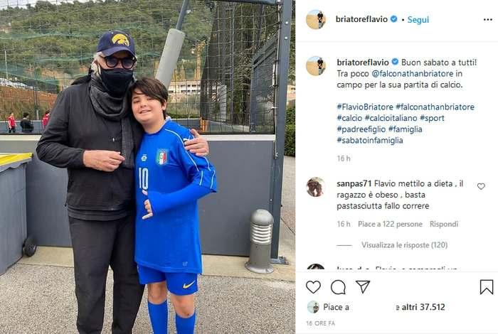 Flavio Briatore, post su Instagram