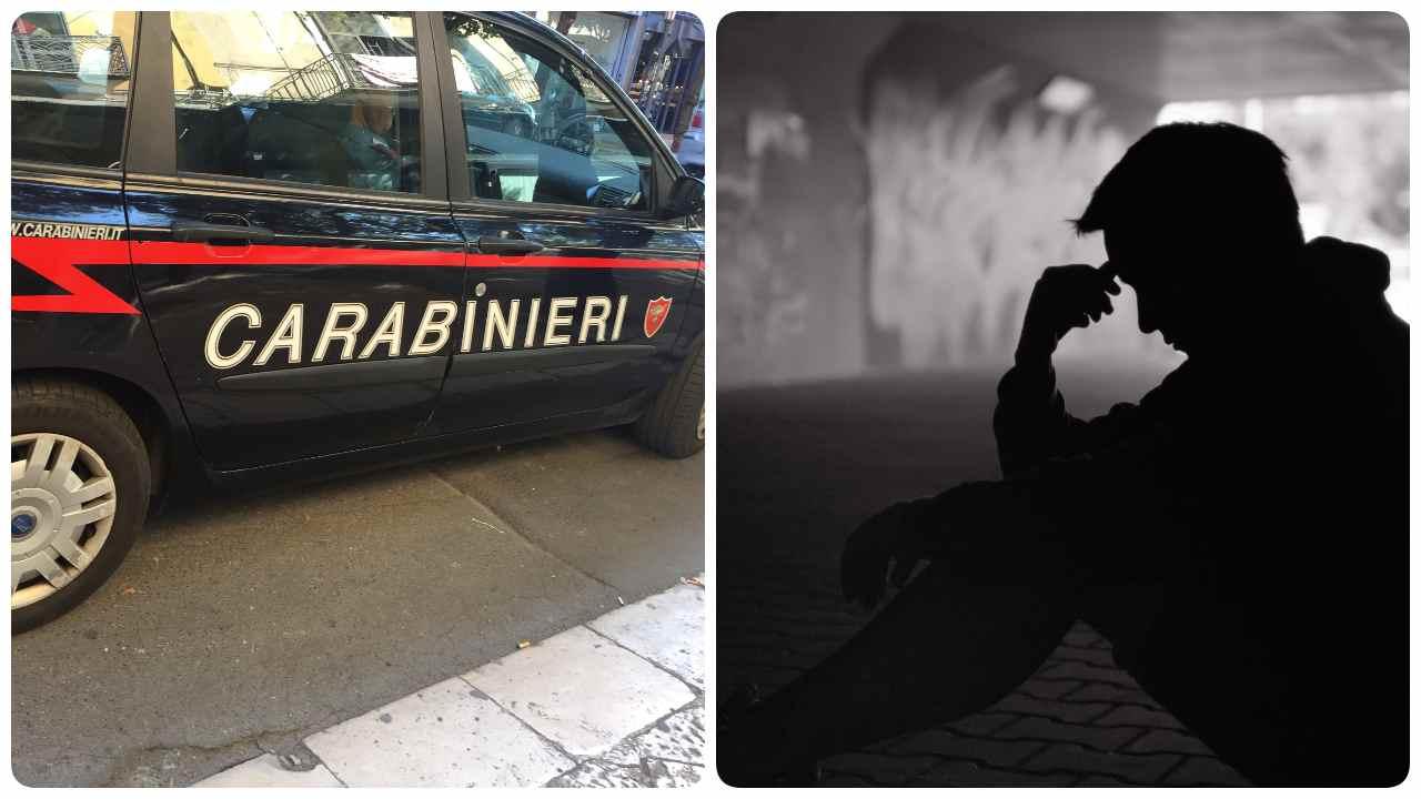 tenta suicidio salvato dai carabinieri