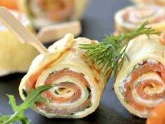 crepes ripiene salmone e rucola