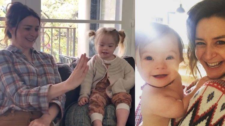 Caterina Scorsone e figlia