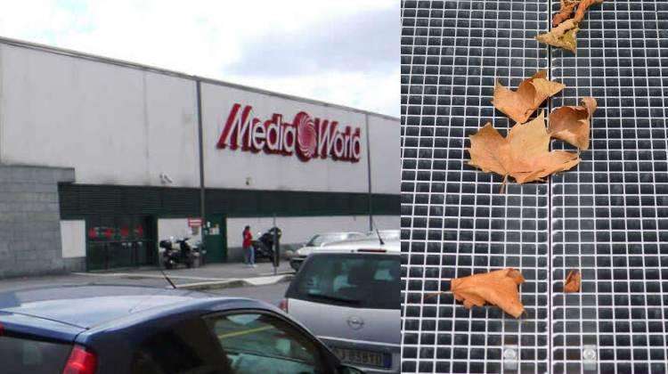 Milano Mediaworld, crollata grata del parcheggio