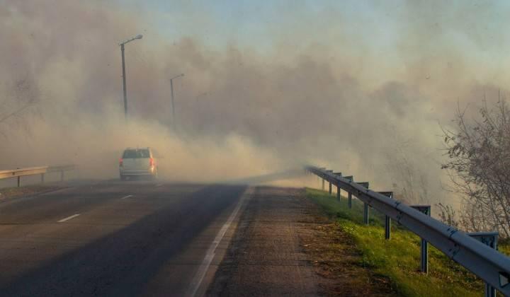 Incidente autostrada auto carbonizzati