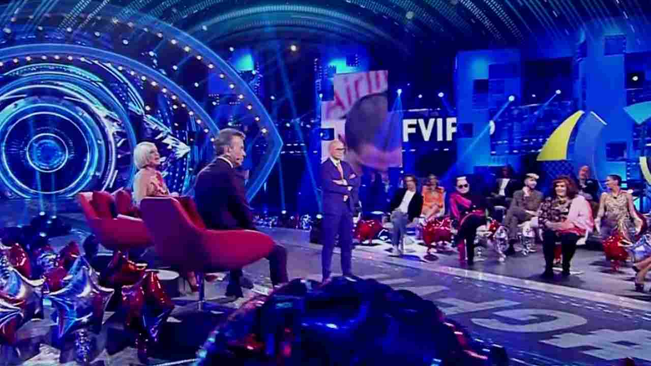Lo studio tv del Grande Fratello Vip