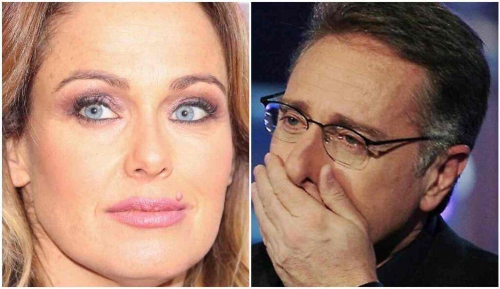 Paolo Bonolis e la moglie