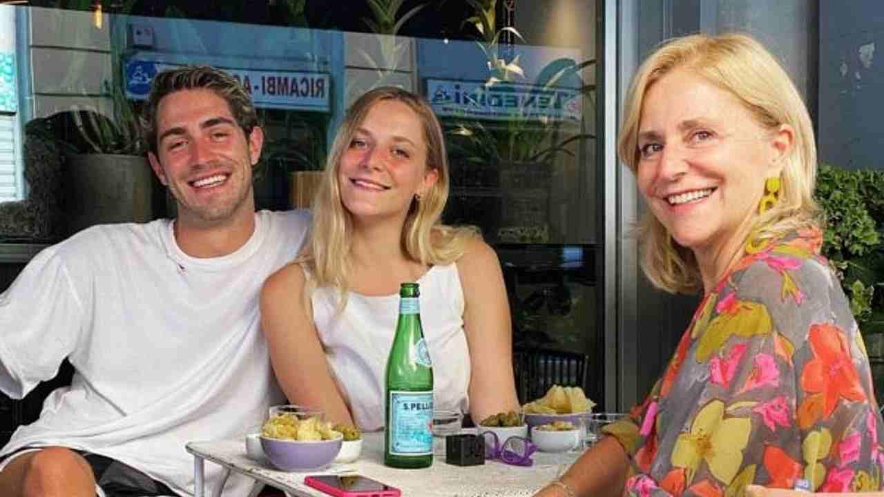 Tommaso Zorzi, sua madre e sua sorella