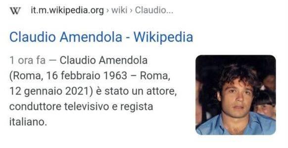 claudio amendola morto, fake news