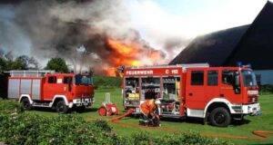 fabbrica di fuochi d'artificio e l'incendio