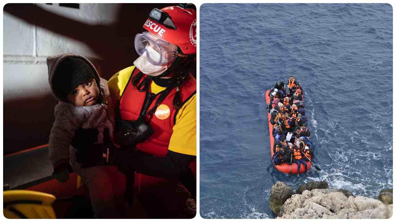 Migranti salvati mare