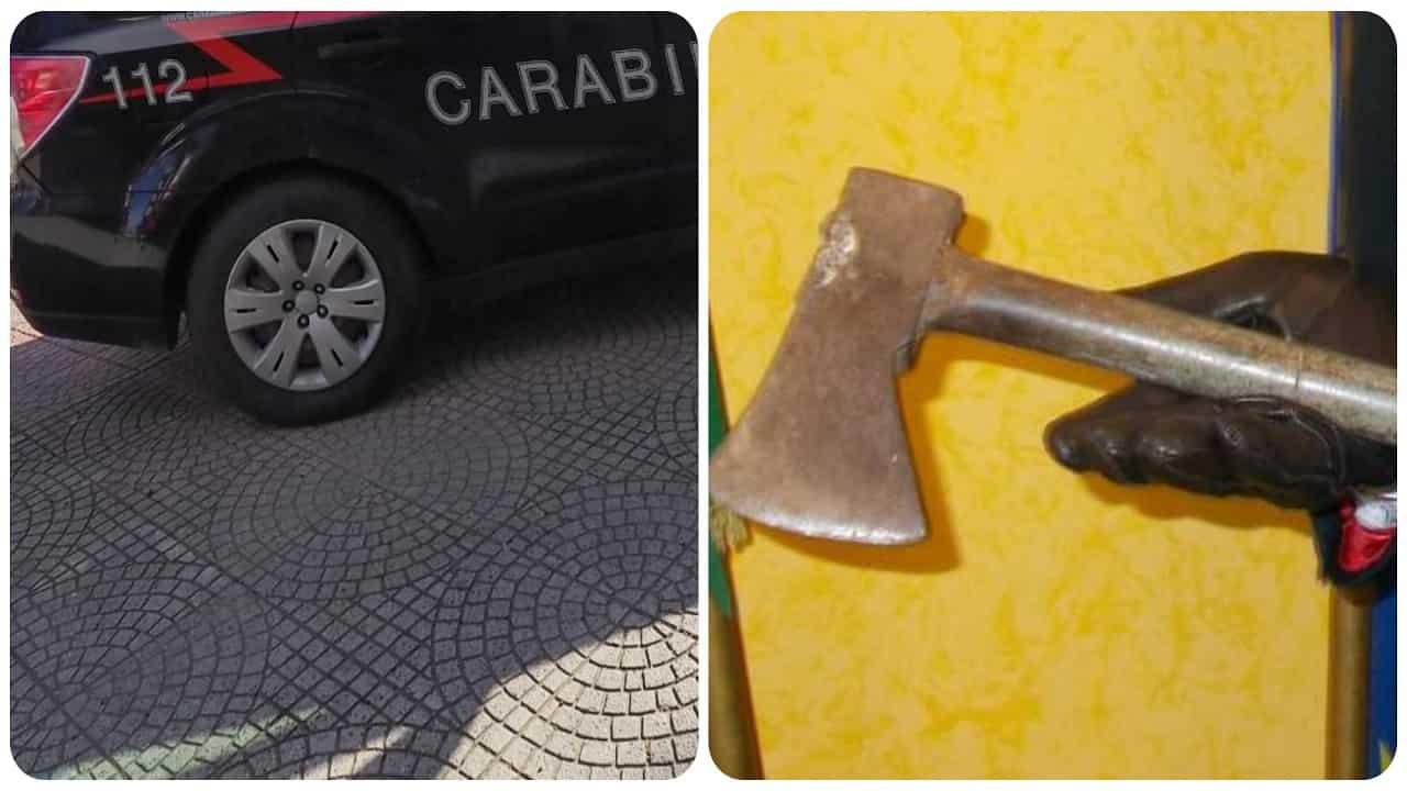 Fermata a Marcaria una donna che vagava con un'ascia in mano.