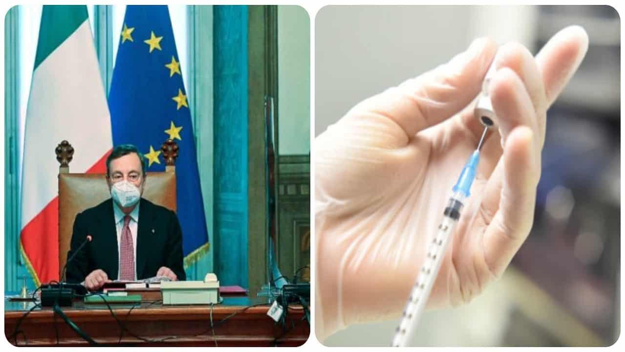 Draghi cambia il piano dei vaccini.