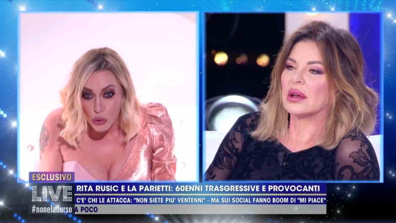 Karina Cascella e Alba Parietti, Live - Non è la D'Urso