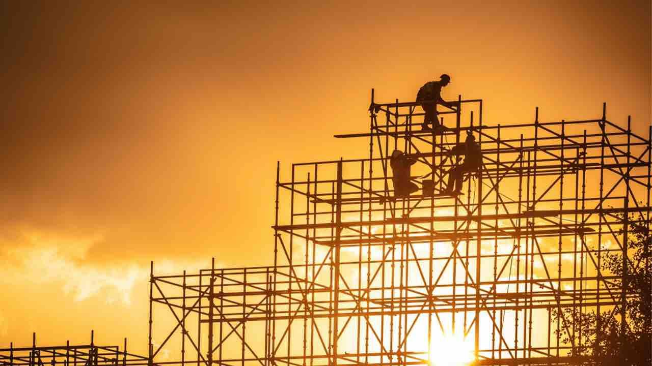 Operai al lavoro Qatar