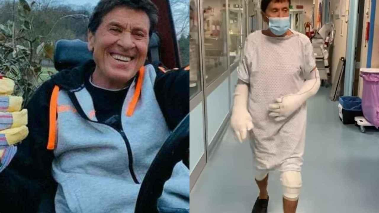Gianni Morandi, il primo video dopo incidente