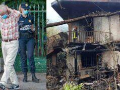 Arrestato per la morte della moglie e dell'amica nell'incendio della propria abitazione