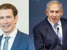 Il cancelliere austriaco Sebastian Kurt e il primo ministro Benjamin Netanyahu