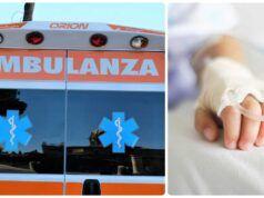 bimbo muore in ambulanza