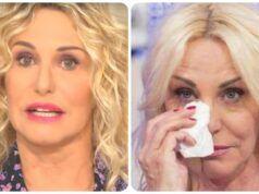Antonella Clerici in lacrime