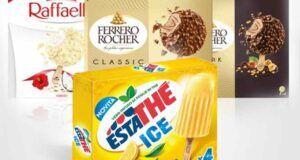 Ferrero gelati ferrero rocher estathé raffaello