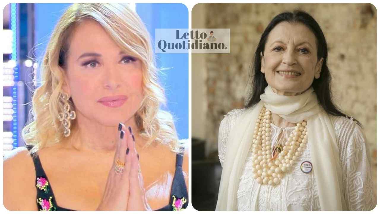 Barbara D'Urso insultata per foto con Carla Fracci