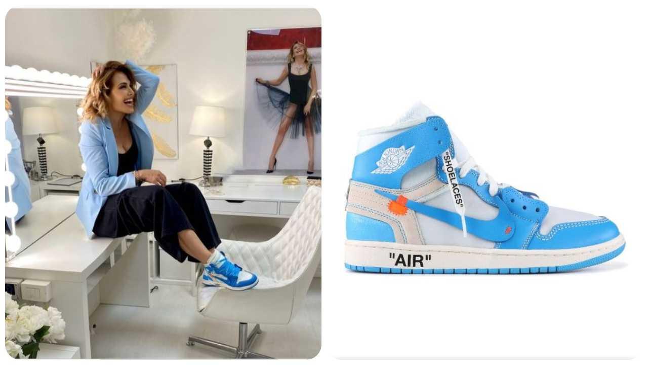 Barbara D'Urso look in sneakers
