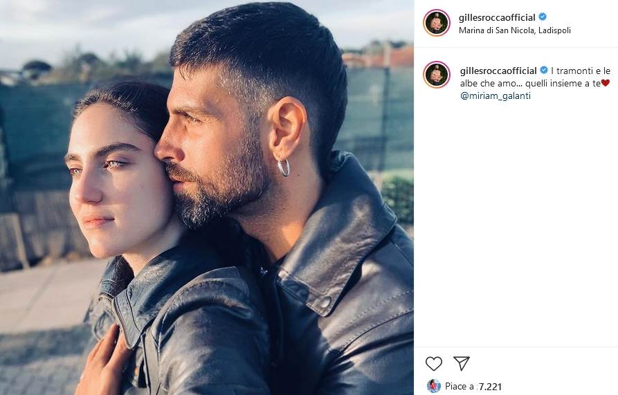 Gilles Rocca, post su Instagram