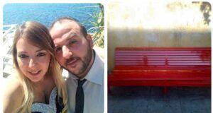 panchina rossa in ricordo Piera Napoli