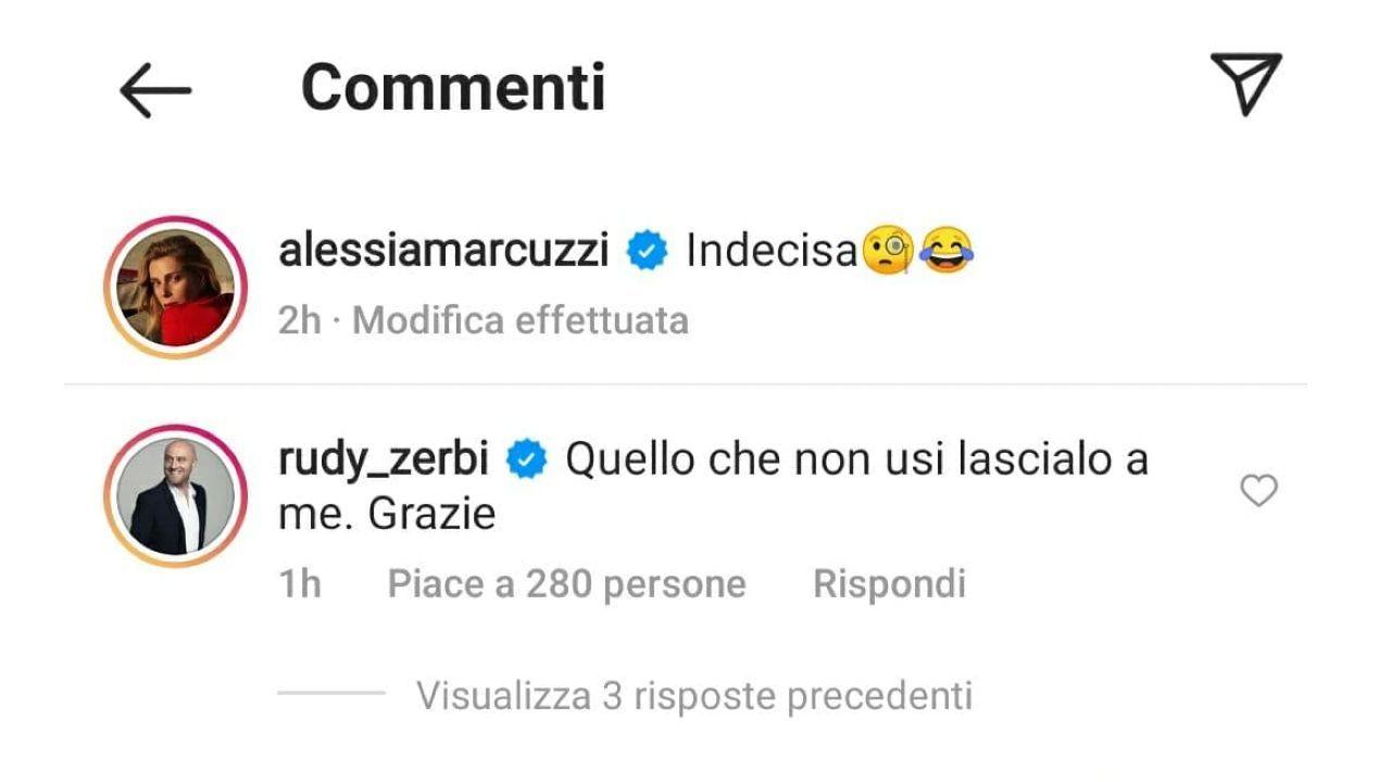 Commento di Rudy Zerbi alla Marcuzzi