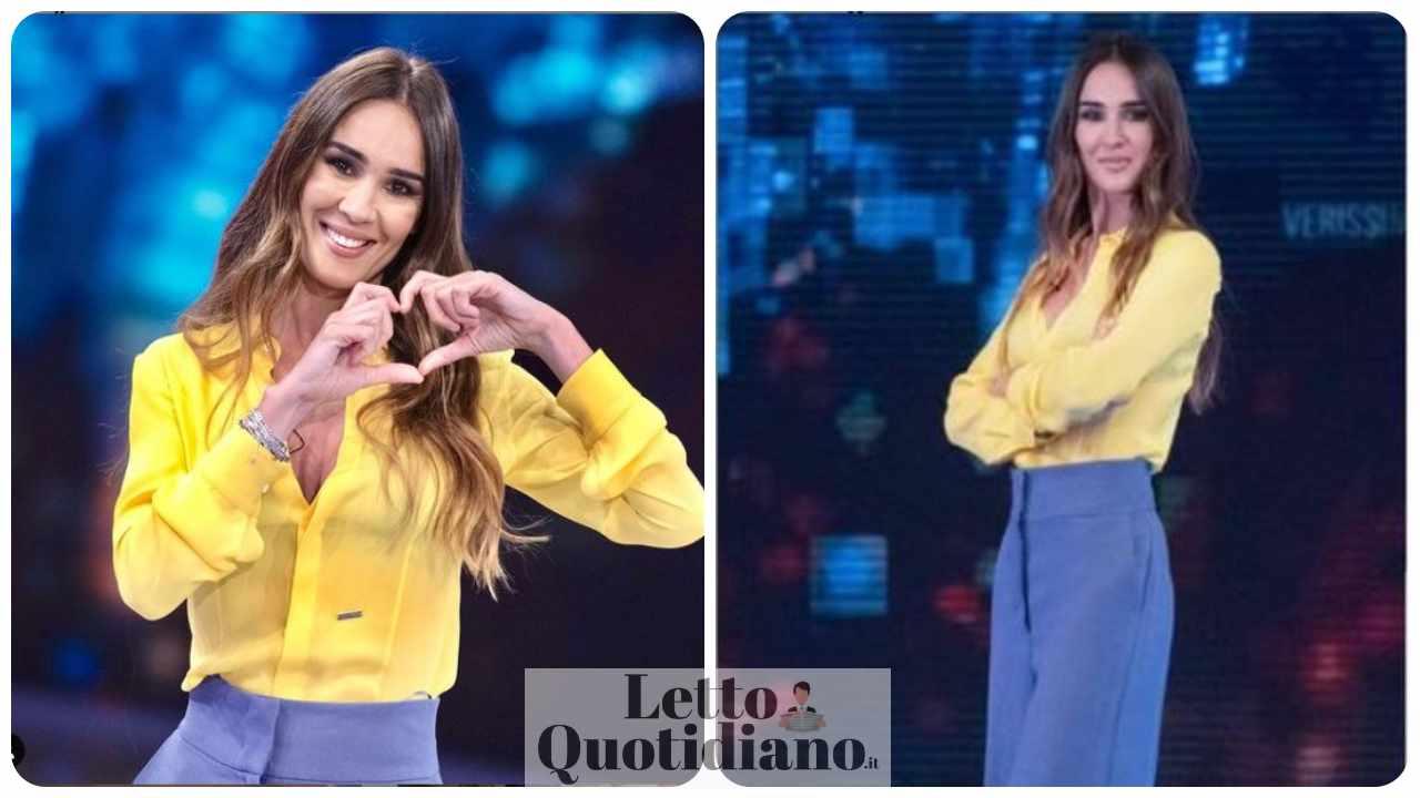 Silvia Toffanin look ultima puntata Verissimo