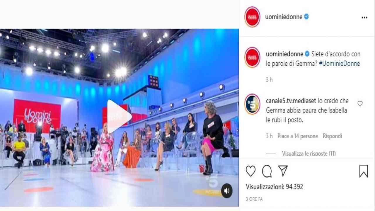 Commenti su Gemma Uomini e Donne