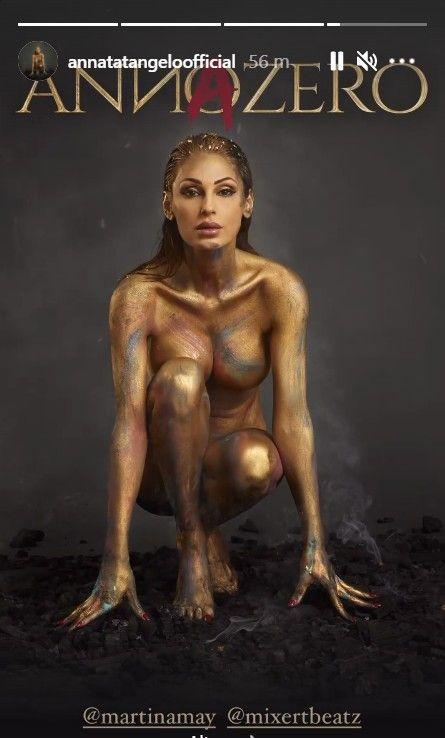 Anna Tatangelo senza veli per la copertina del suo nuovo singolo: social in tilt