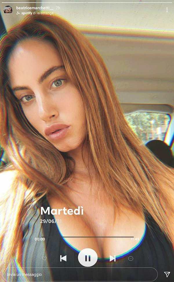 Beatrice Marchetti, Instagram story