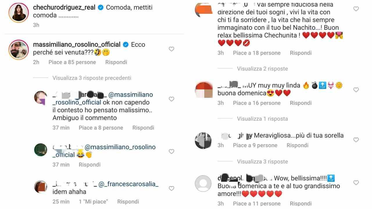 Cecilia Rodriguez commenti IG