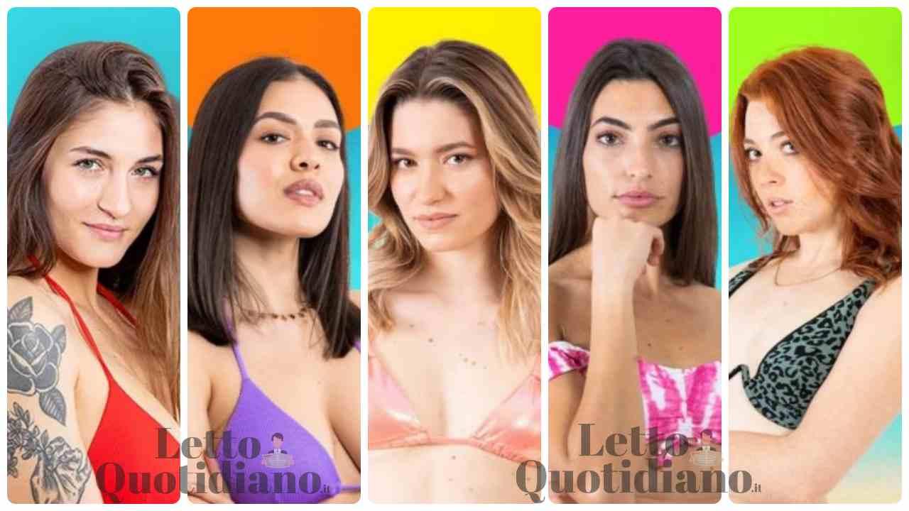 Love Island concorrenti- le ragazze