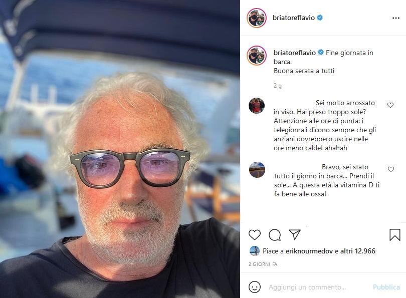 Flavio Briatore, Instagram