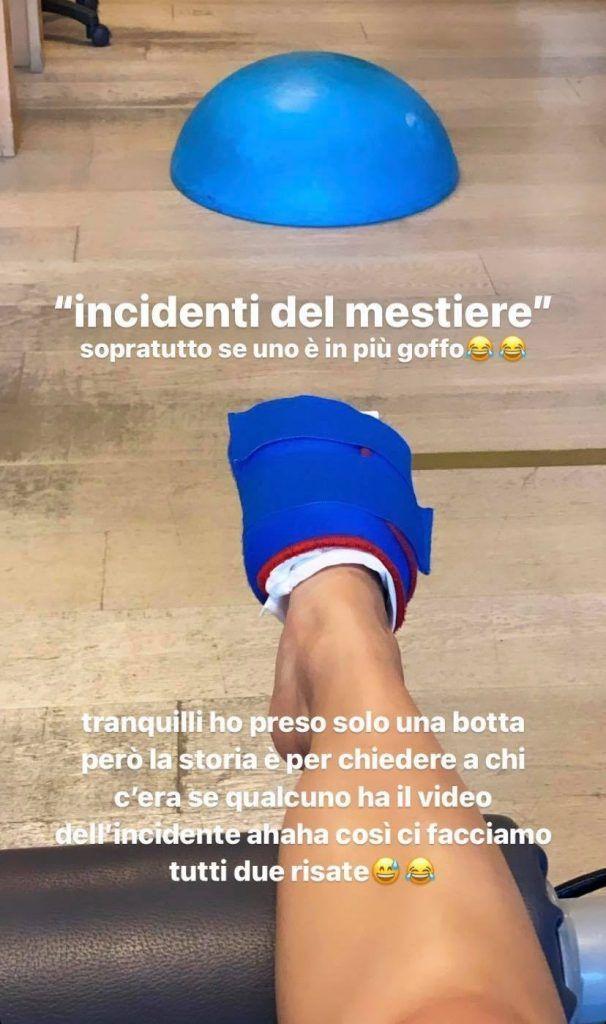 Giulia Stabile foto infortunio