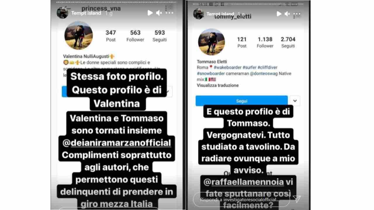 Temptation Island, Tommaso e Valentina smascherati?
