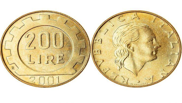 monete 200 lire valore